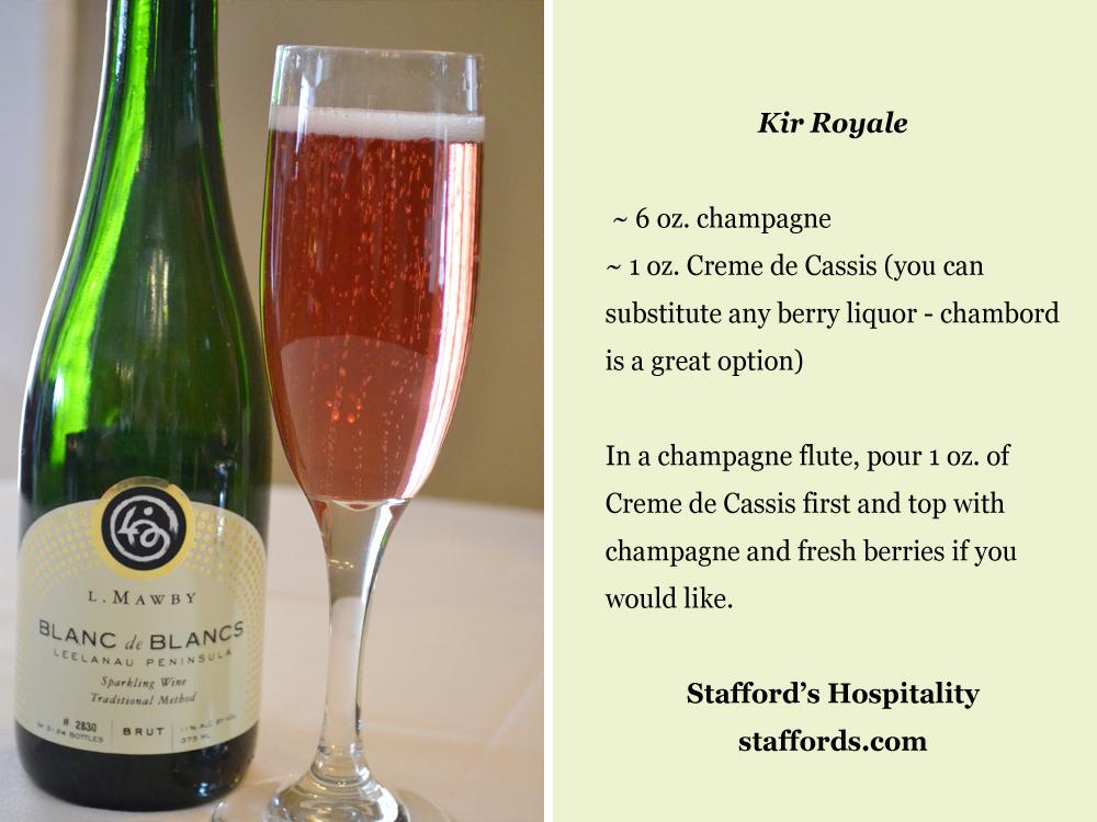 kir royale recipe card stafford 39 s wedding blog. Black Bedroom Furniture Sets. Home Design Ideas