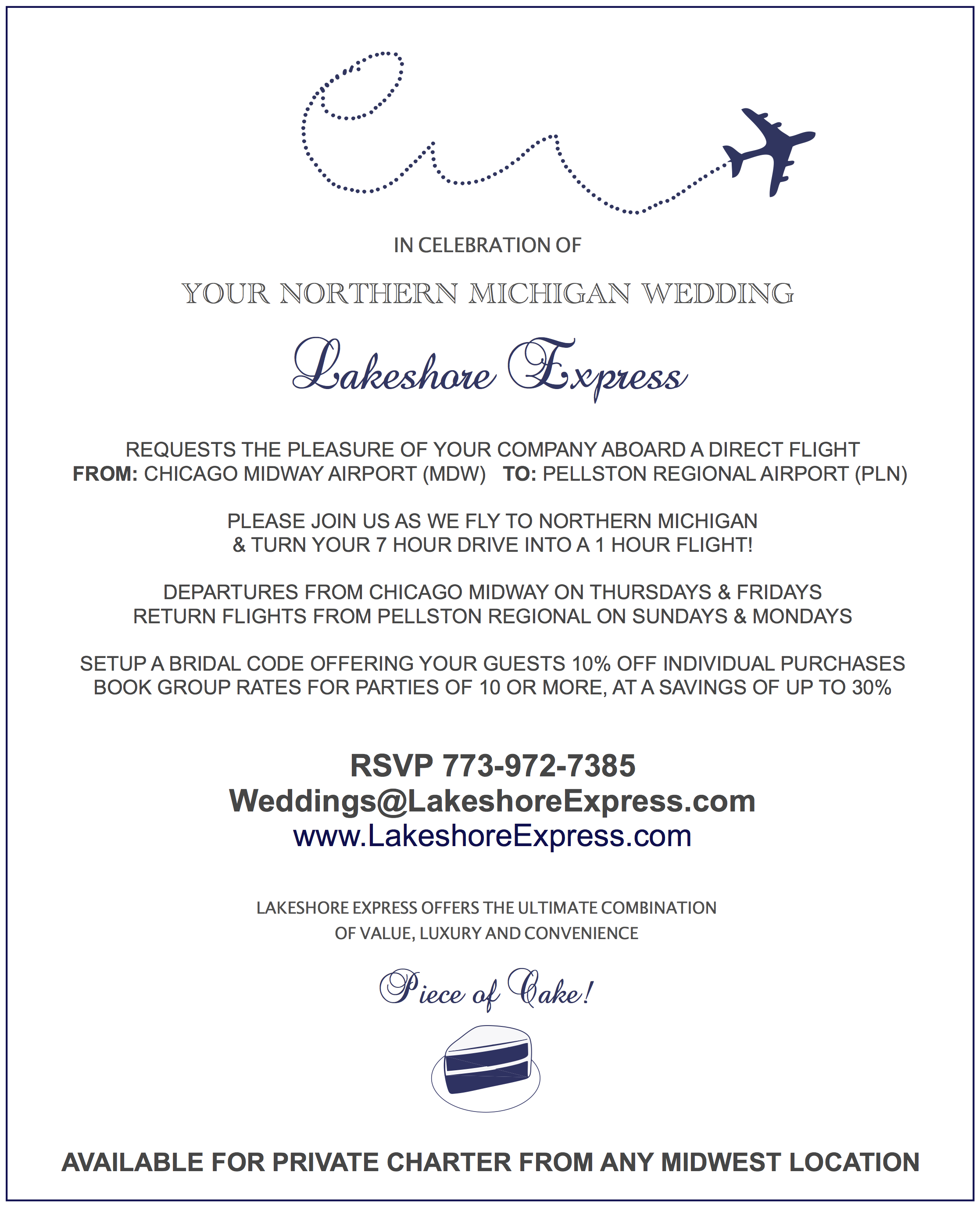 Email Wedding Invites: Make Traveling To Your Northern Michigan Wedding A Piece