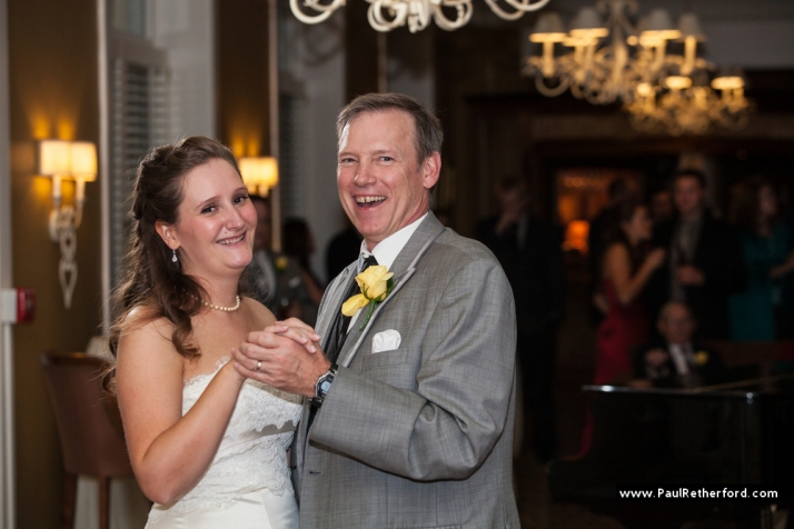 Father-Daughter Dance  at Stafford's Perry Hotel - Paul Retherford Wedding Photography