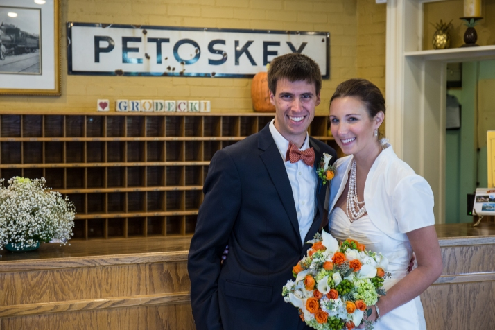 Pat & Abby were married this fall in downtown Petoskey.