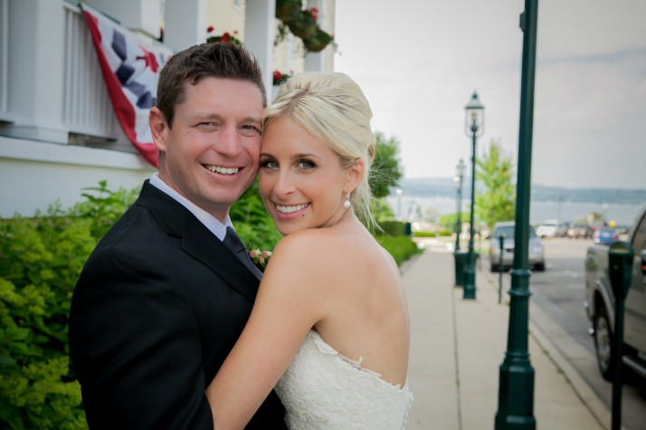 Patrick & Amy were married in August in Downtown Petoskey.